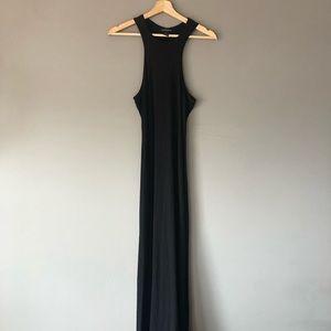Club Monaco black maxi dress medium racerback